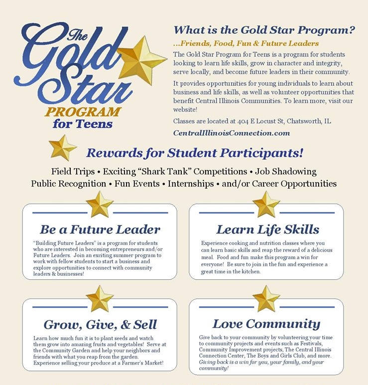 Gold Star Program for Teens – Central Illinois Connection